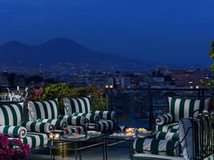 Night view of the Bay of Naples from The Grand Hotel Parker's, Naples, Italy | Bown's Best