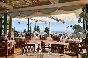 Interior of The Restaurant, Grand Hotel Timeo, Taormina, Sicily, Italy | Bown's Best