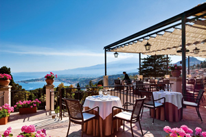 Terrace by day, The Restaurant, Grand Hotel Timeo, Taormina, Sicily, Italy | Bown's Best