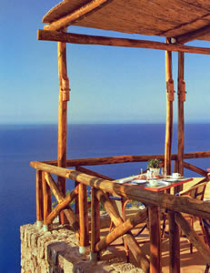 The terrace at Monastero Santa Rosa Hotel & Spa, Conca del Marini, Amalfi, Italy | Bown's Best