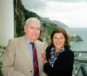 General Manager Fulvia Clapier with Francis Bown, Grand Hotel Convento di Amalfi