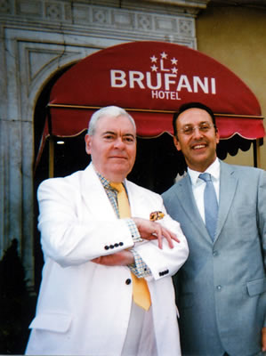 Francis Bown with Stefano Chiesa, General Manager, Brufani Palace Hotel, Perugia, Italy | Bown's Best