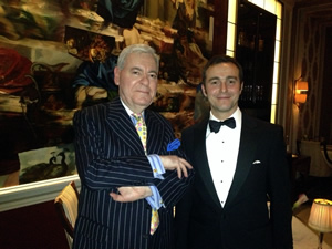 Francis Bown with Pasquale Cosmai, Restaurant Manager at Apsleys a Heinz Beck Restaurant, London, UK | Bown's Best