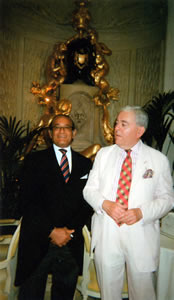 Mr Michael Kotb with Francis Bown, Tea at The Ritz, London, United Kingdom | Bown's Best