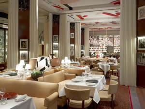 Restaurant La Cuisine. Hotel Le Royal Monceau Raffles, Paris, France