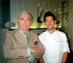 Chef Adrian Bührer with Francis Bown, Grand Hotel National, Luzern, Switzerland | Bown's Best