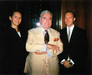Stephanie Prazak and Jan Kübler with Francis Bown, Park Hyatt Zurich, Zurich, Switzerland | Bown's Best